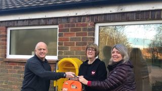 New Defibrillator at Moneyhole Lane Playing Fields