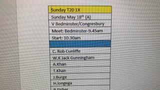 Brislington T20 X1 v Bedminster & Congresbury