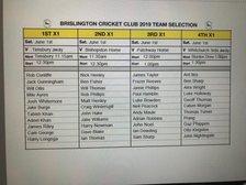 Brislington CC Team Selection Sat 1st June