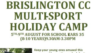 BRISLINGTON CC MULTI-SPORT HOLIDAY CAMP