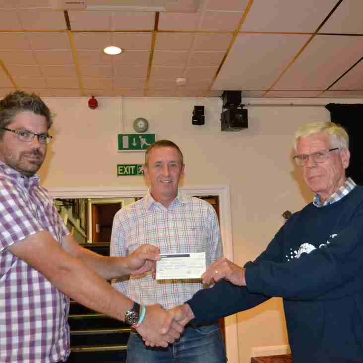 Council Of Clubs meeting and presentation of Cancer Cup Cheque