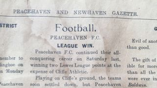 Peacehaven FC match report 1924