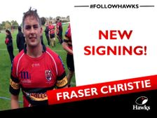 Next up Fraser Christie