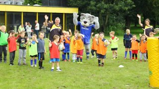 Wolfie Visits Cubs Training 3rd July 16