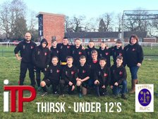 Under 12s show off their new hoodies
