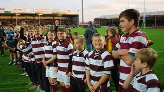 Swans minis and juniors visit Exeter Chiefs