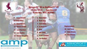 Team vs Hatfield 19th October