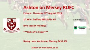 Pre-season game on Thursday 29th August