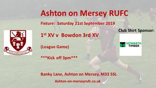 Local derby this Saturday v Bowdon 3s - 21st September