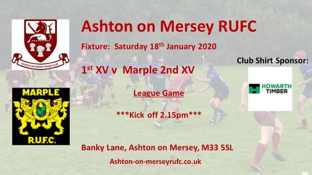 18th January 1st XV v Marple 2nd XV