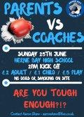 Parents vs Coaches charity match