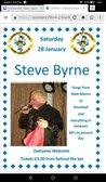 Top male vocalist Steve Byrne Saturday 28 January 2016