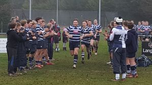 WP U14s Falcons Welcome our 1st XV Lads Onto the Pitch