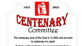 Centenary Celebrations - Meeting on 21st May