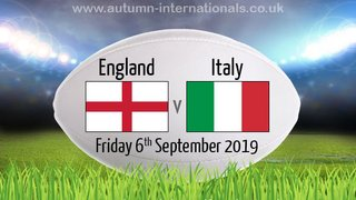 England v Italy Warm up match meal