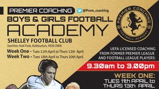Easter Premier Coaching Sessions announced