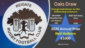OAKS Draw - Final Prizes of 2020