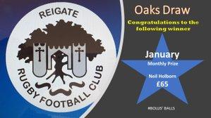 Oaks Draw Winner - January 2021