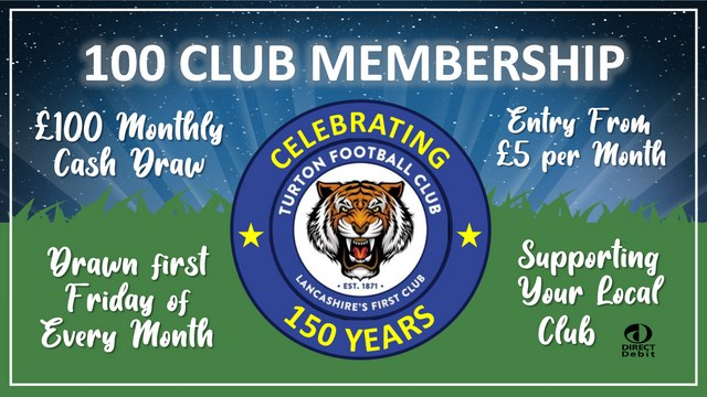 Turton FC - 100 Club Membership