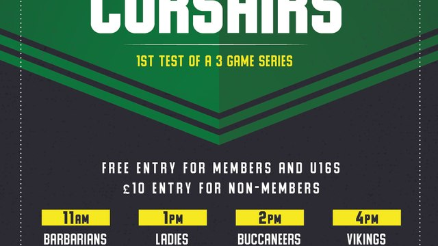 26th September - Chairman's Select:  Buccaneers V Corsairs