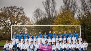 Under-9 boys strike new partnership with Woking & Sam Beare Hospice