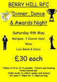 Berry hill rfc dinner,dance and awards night