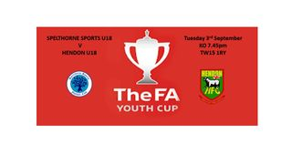 F.A Youth Cup-Tuesday 3rd September