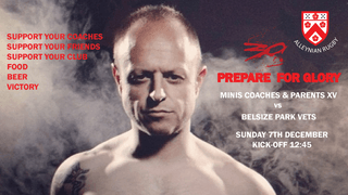 7th December Minis Coaches & Fathers  Vs  Belsize Park Vets