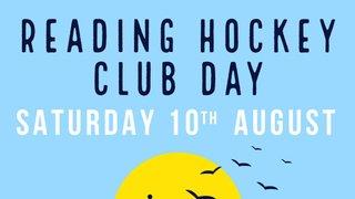 Reading Hockey Club Day - Saturday 10th August 2019