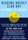 Reading Hockey Club Day - August 10th 2019