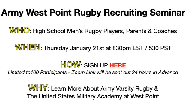 West Point Rugby Webinar