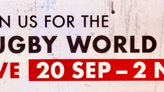 RUGBY WORLD CUP  CHARGES INTO OCTOBER !