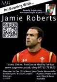 Fundraising event with Wales legend