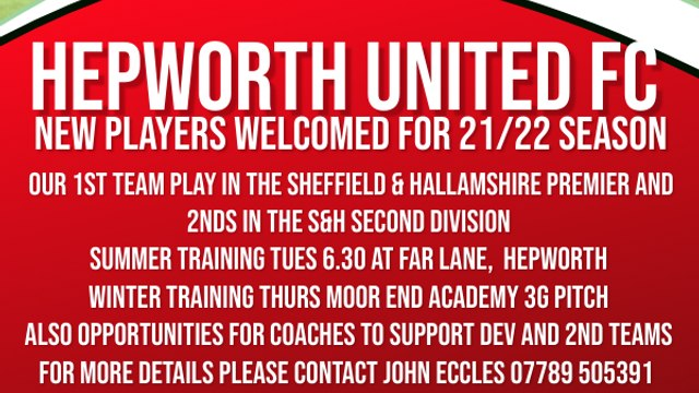 New Players Welcome for Open Age 21-22 Season