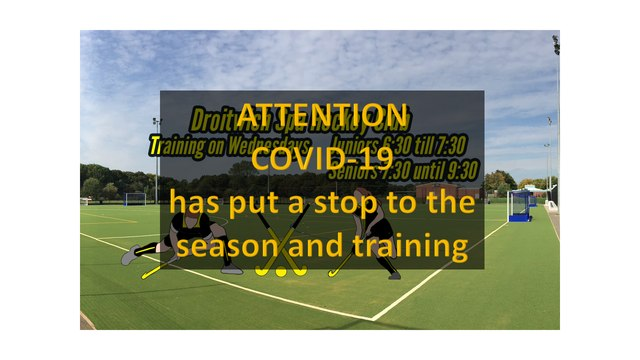 COVID-19  has put a stop to the season and training