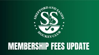 MEMBERSHIP FEES UPDATE