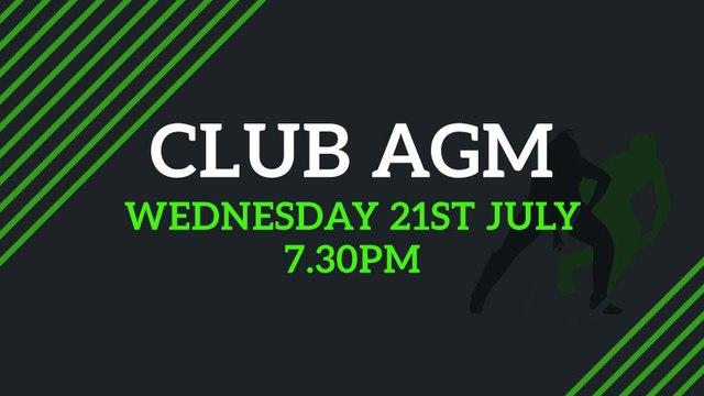 CLUB AGM 2021