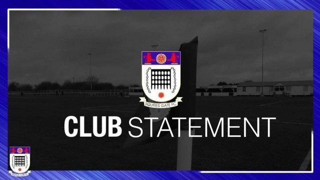 Club Statement: League Update