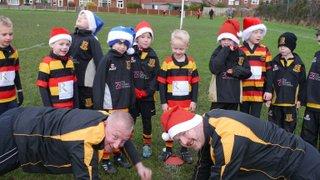 Under 7's Heaton Moor RUFC  Christmas Training