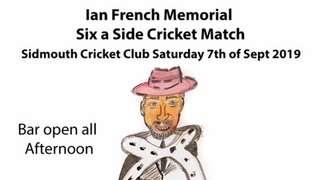 Ian French Memorial - Saturday 7th September