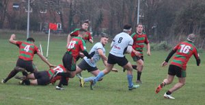 A rare draw caps off a great afternoon's rugby between Millbrook and Fordingbridge at thirty six all.
