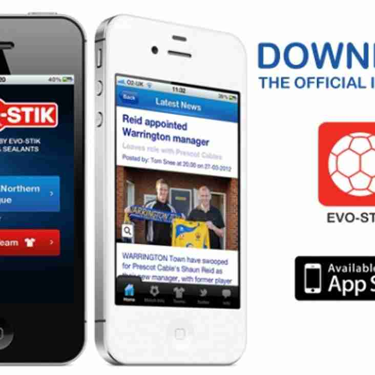 Pitchero, Evo-Stik NPL launch official app