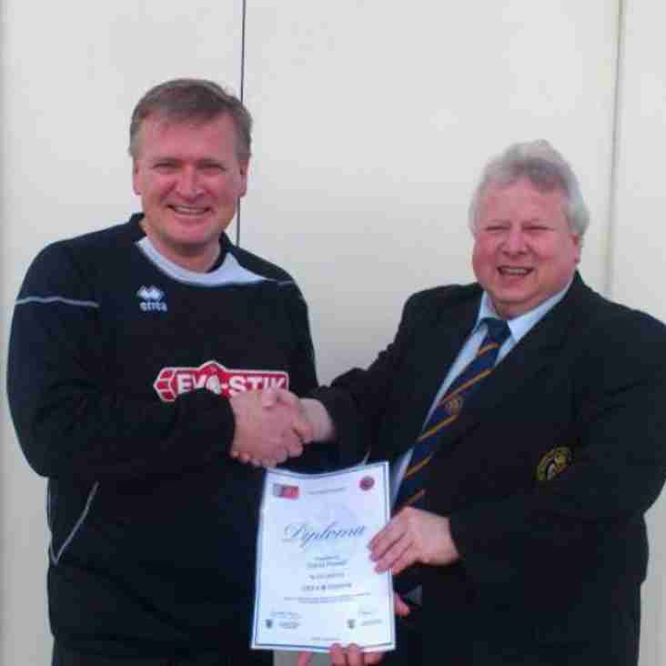 League bursary helps Ashton United coach