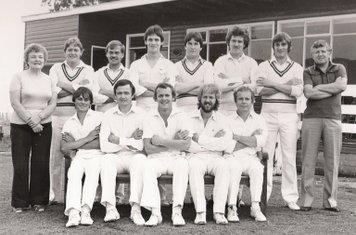 Shipston CC 1st XI 1983  Back Row - R.Murphy, D.Murphy, A.Corby, N.Beard, D.Pyne, A.Hibbered, D.Smith, P.Harvey  Front Row - R.Dunsbee, P.Betteridge, Martyn Randall, Mervyn Randall, R.Graves