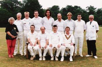 Shipston CC 1st XI 1995  Back Row - R.Murphy, M.Randall, J.Morris, J.Walker, S.Righton, M.Sharpe, B.Cox, D.Pyne, J.Bradley  Front Row - R.Dunsbee, R.Hurrell, G.Betteridge, D.Murphy