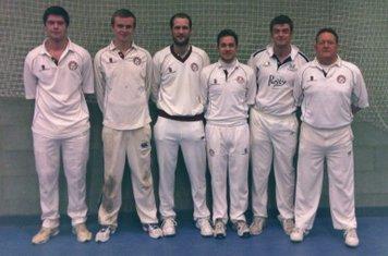 Shipston CC Indoor Team 2013.L: Marcus Ireland, Joe Godson, Tom Cox, Jack Murphy, BJ Weston & Dave Murphy