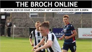 Match Programme, Broch v Clach 10th Aug 2019