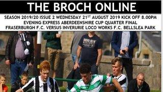 Match Programme, Broch v Locos 21st Aug 2019
