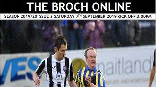 Match Programme, Broch v Forres 7th Sept 2019