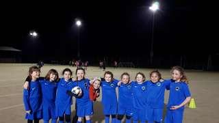 U9 Swans Girls sporting their New Blue away kit
